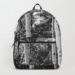 Aspen Forest - Black And White Nature Photography Backpack