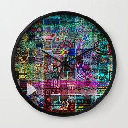 Untitled Mindmap 02/02/15 (Recombinant Series) Wall Clock