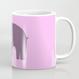 Grey Elephant on Pink Coffee Mug