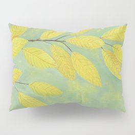 Yellow Fall Leaves Pillow Sham