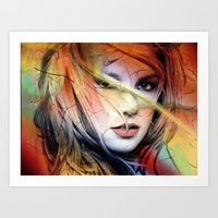 britney spears Art Prints featuring  britney spears  by mark ashkenazi
