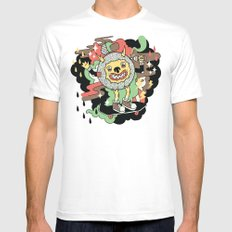 Skate and Destroy Mens Fitted Tee White MEDIUM