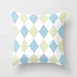 1950s Retro Pattern Throw Pillow