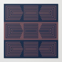 Bicolor Geometric I Canvas Print