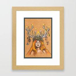 Imbolc/Candlemas/Brigid Framed Art Print