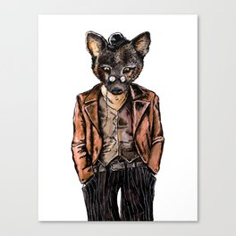 Little Wolf on Suit Canvas Print