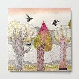 My Pink Trees Metal Print