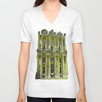 old school V-neck T-shirts featuring Old School by Nicholas Bremner - Autotelic Art