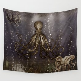 Octopus' lair - Old Photo Wall Tapestry