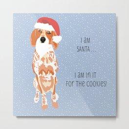 Santa the Coonhound Metal Print