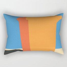 Orange Garbage Bin Rectangular Pillow