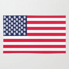 usa dollar flag Rug