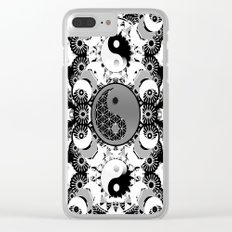 YinYang Sacred Geometry Totem Clear iPhone Case