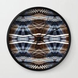 Ethnic hand drawn shibori Wall Clock