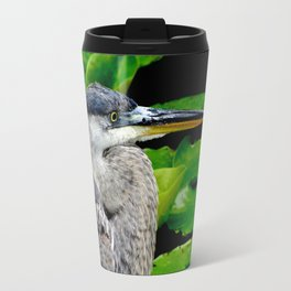 Blue Heron at the pond Travel Mug
