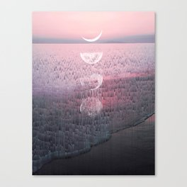Glitches at Sunset Canvas Print