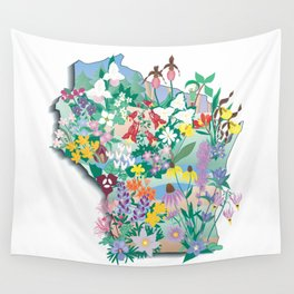 Wisconsin Wildflowers Wall Tapestry