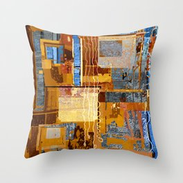 Meandering the Cellar of Peace Contemporary Abstract Throw Pillow