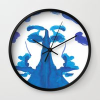 mirror Wall Clocks featuring mirror by Zsofi Porkolab