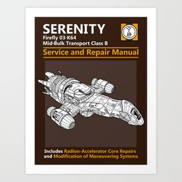 Serenity Service and Repair Manual Art Print