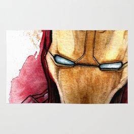 Iron Man Watercolor Comic High quality artprint comic superhero Rug