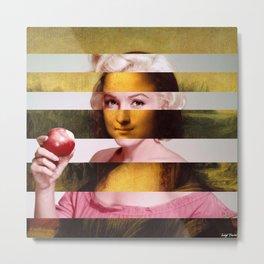 "Leonardo Da Vinci's ""Mona Lisa"" & M.M. Metal Print"