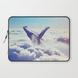 Cloudy whale Laptop Sleeve