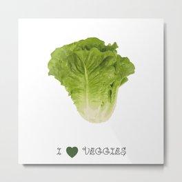 Lettuce - I love veggies Metal Print