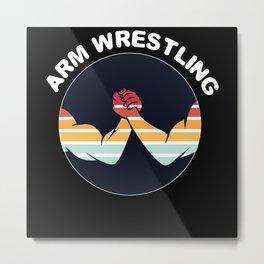 Arm Wrestling Metal Print