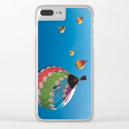 Balloons on Blue Clear iPhone Case