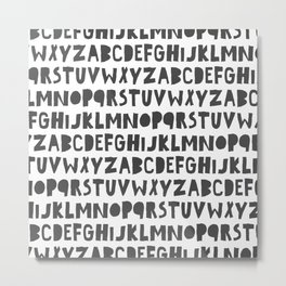 Lettered Metal Print