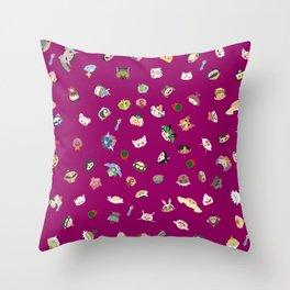A Mix of Okami Throw Pillow