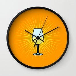 White Wine Fendant Wall Clock