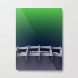 I want to believe - brutalism and UFOs Metal Print