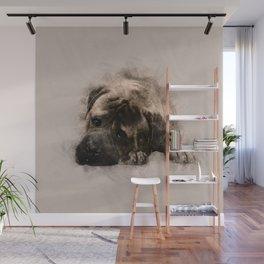 Bullmastiff Puppy Sketch Wall Mural