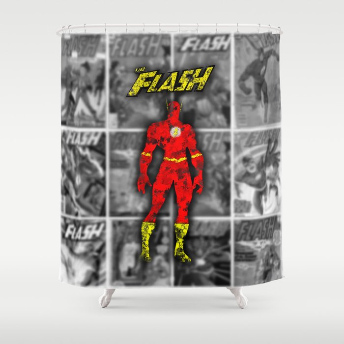The Flash Shower Curtain By Darthdaloon