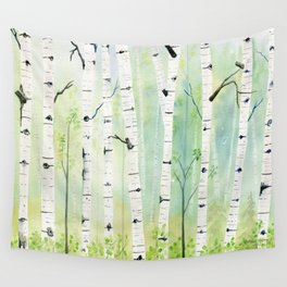 Birch Trees 2  Wall Tapestry