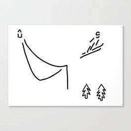 ski jumper digs ski jumping fly Canvas Print