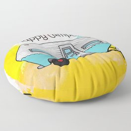 Happy Camper [color] Floor Pillow