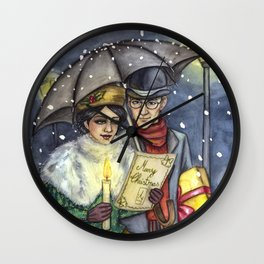 Christmas Eve Wall Clock