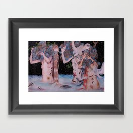 The Fish Gatherers Framed Art Print