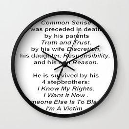 The Death of Common Sense Wall Clock