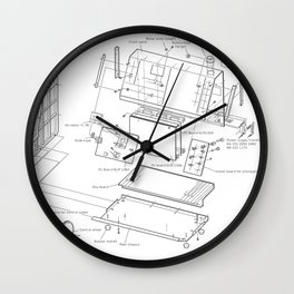 Korg VC-10 - exploded diagram Wall Clock