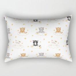 Cat Kitten Baby Girl Nursery Room Decor Rectangular Pillow