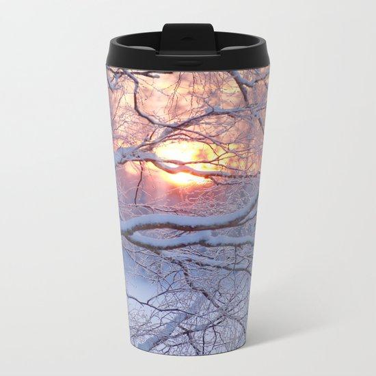 Winter Sunset Metal Travel Mug