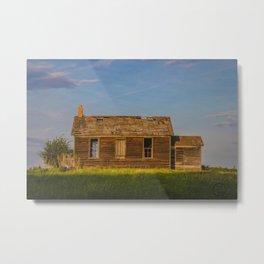 County Road, North Dakota 17 Metal Print