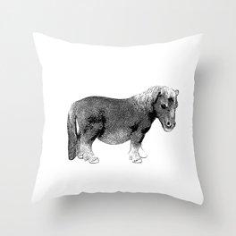 The Ever-So-Cute Pony Throw Pillow