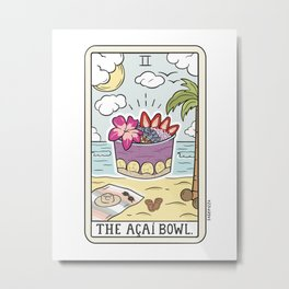 ACAI BOWL READING Metal Print