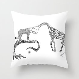 Giraffe/Cheetah Throw Pillow