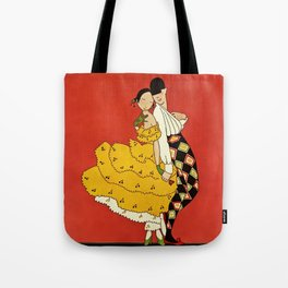 """""""Harlequin Dancer"""" by Annie Fish Tote Bag"""